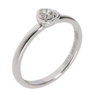 Cartier Legers Diamond 18K White Gold Ring Size EU 52