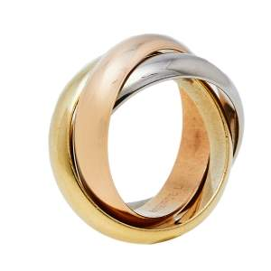Cartier Trinity 18K Three Tone Gold Ring Size 48