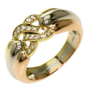 Cartier Diamond 18K Yellow Gold Ring Size EU 50