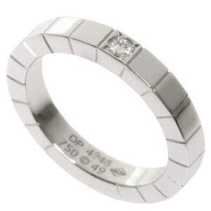 Cartier Lanieres Diamond 18K White Gold Ring Size EU 49