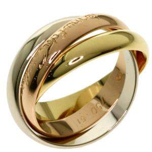 Cartier Trinity 18K Yellow Rose White Gold Ring Size EU 51