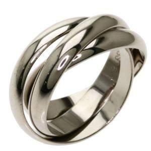 Cartier Trinity Vintage 18K White Gold Ring Size EU 56