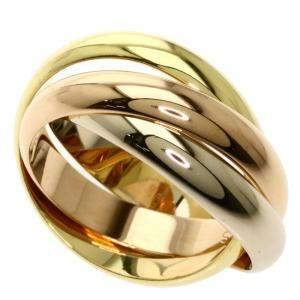 Cartier Trinity 18K Yellow, Rose, White Gold Ring Size EU 58