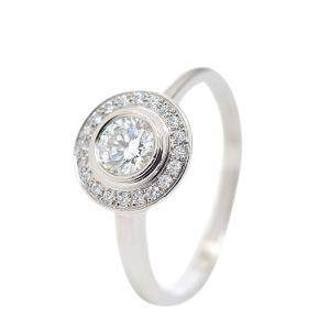 Cartier D'amour Platinum Diamond Ring Size EU 50