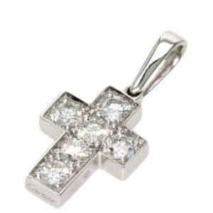 Cartier Cross Diamond 18K White Gold Charm