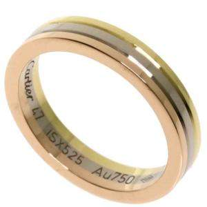 Cartier Trinity 18K Yellow Rose White Gold Ring Size EU 47