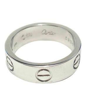 Cartier Love 18K White Gold Ring Size EU 52.5