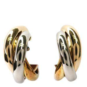 Cartier Trinity De Cartier 18K  Yellow, Rose, White Gold Earrings
