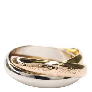 Cartier Les Must De Cartier Trinity 18K Yellow, Rose, White Gold Ring Size EU 51