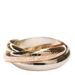 Cartier Yellow, Rose, White Gold Trinity Ring Size 53