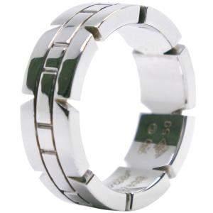 Cartier Tank Francaise 18K White Gold Ring Size EU 50