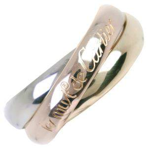 Cartier Les Must De Cartier Trinity 18K Yellow, Rose, White Gold Ring Size EU 49
