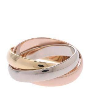 Cartier Trinity 18K Yellow, Rose, White Gold Ring Size EU 48