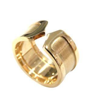 Cartier Double C 18K Yellow Gold Ring Size EU 50