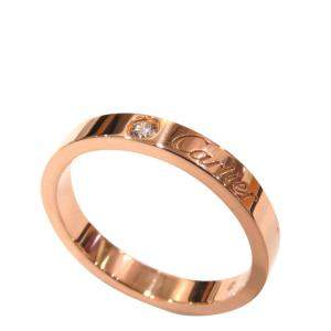 Cartier 18K Rose Gold Diamond Ring Size EU 52