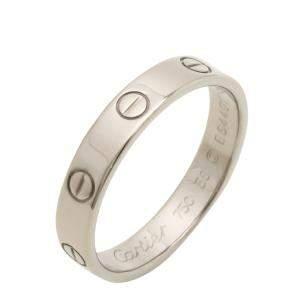 Cartier Love 18K White Gold Ring Size EU 55