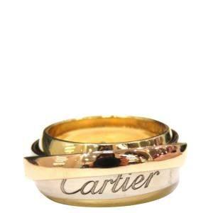 Cartier Les Must De Cartier Trinity 18kK Yellow, Rose, White Gold Ring Size EU 50