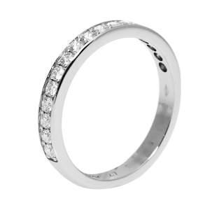 Cartier Diamond Platinum Half Eternity Wedding Band Ring Size 47