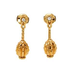 Cartier Cactus de Cartier Diamond 18K Yellow Gold Drop Earrings