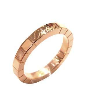 Cartier Lanieres 18K Rose Gold Ring Size EU 48
