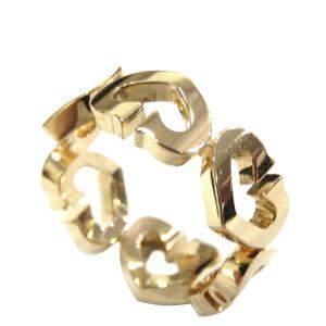Cartier Heart 18K Yellow Gold Ring Size EU 50