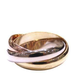 Cartier Trinity 18K Yellow, Rose, White Gold Ring Size EU 54