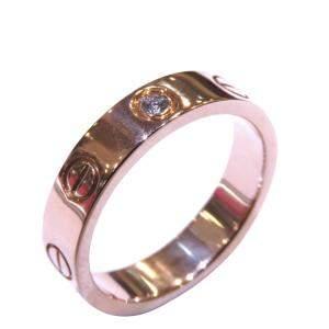 Cartier Love 18K Rose Gold Diamond Ring Size EU 46