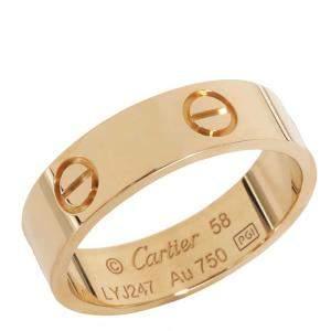 Cartier Love Yellow Gold Ring Size EU 58