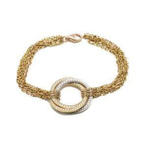 Cartier Trinity Yellow Gold Diamond Bracelet 18 CM