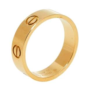 Cartier Love 18K Yellow Gold Wedding Band Ring Size 55