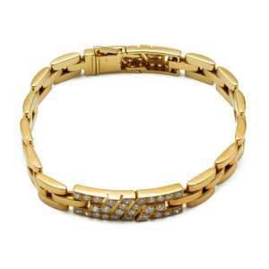 Cartier Maillon Panthère Yellow Gold Diamond Link Bracelet