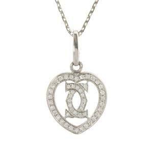 Cartier Diamond Heart 18K White Gold Diamond Pendant Necklace
