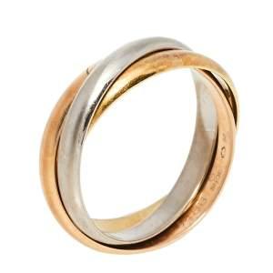 Cartier Trinity 18K Three Tone Gold Ring Size 53