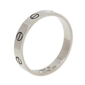 خاتم زفاف كارتييه لوف حلقة ذهب أبيض عيار 18 مقاس 60
