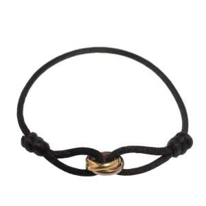 Cartier Trinity 18K Three Tone Gold Adjustable Cord Bracelet