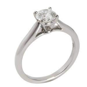 Cartier Solitaire 1895 Diamond Engagement Platinum Ring Size EU 47