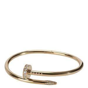 Cartier Juste un Clou Diamond 18K Yellow Gold Bracelet