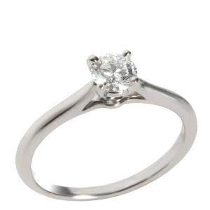 Cartier 1895 Diamond Engagement Platinum Ring Size EU 51