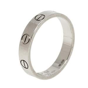 خاتم زفاف كارتييه لوف حلقة ذهب أبيض عيار 18 مقاس 52
