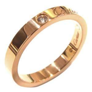 Cartier C De Cartier 18K Yellow Gold Diamond Ring Size EU 45