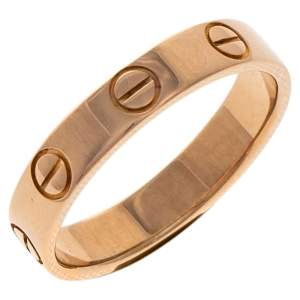 Cartier Love 18K Rose Gold Wedding Band Ring Size 49