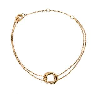 Cartier Trinity 18K Three Tone Gold Double Chain Bracelet