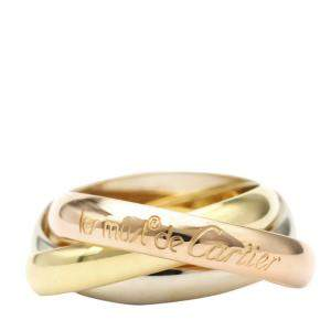 Cartier Yellow Gold, Rose Gold, White Gold Trinity Ring Size 51