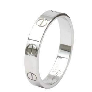 Cartier 18K White Gold Mini Love Ring Size 53