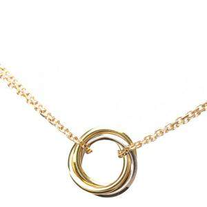 Cartier Yellow, Rose, White Gold Trinity Necklace