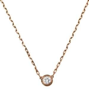 Cartier Diamants Légers Diamond 18k Rose Gold Necklace SM