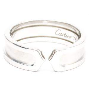 Cartier C De Cartier 18K White Gold Ring Size EU 58