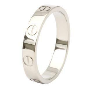 Cartier Love 18K White Gold Ring Size EU 53