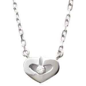 Cartier C De Cartier 18K White Gold Diamond Necklace