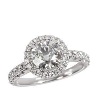 Cartier Platinum Destinee 1.53 CTW Diamond Engagement Ring Size 49